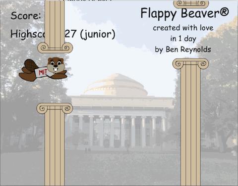 Flappy Beaver game screenshot