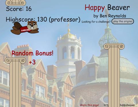 Happy Beaver game screenshot