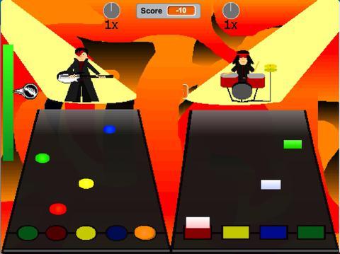 Rock Band game screenshot