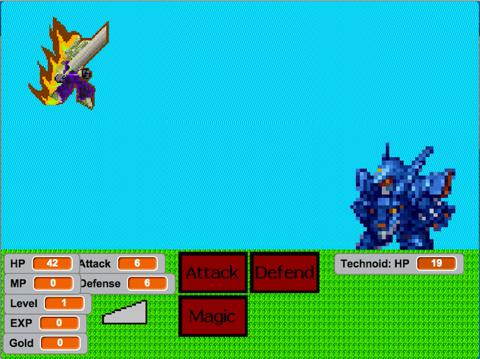 RPG Battle 1.1 game screenshot