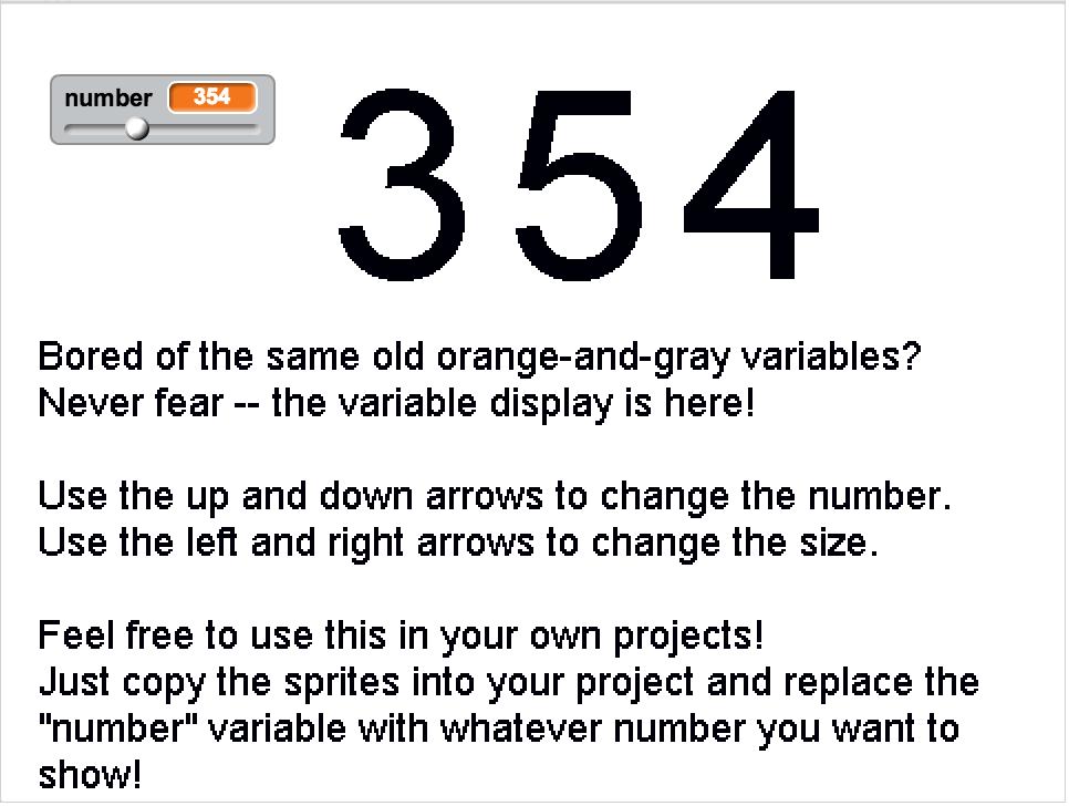 Variable Display screenshot